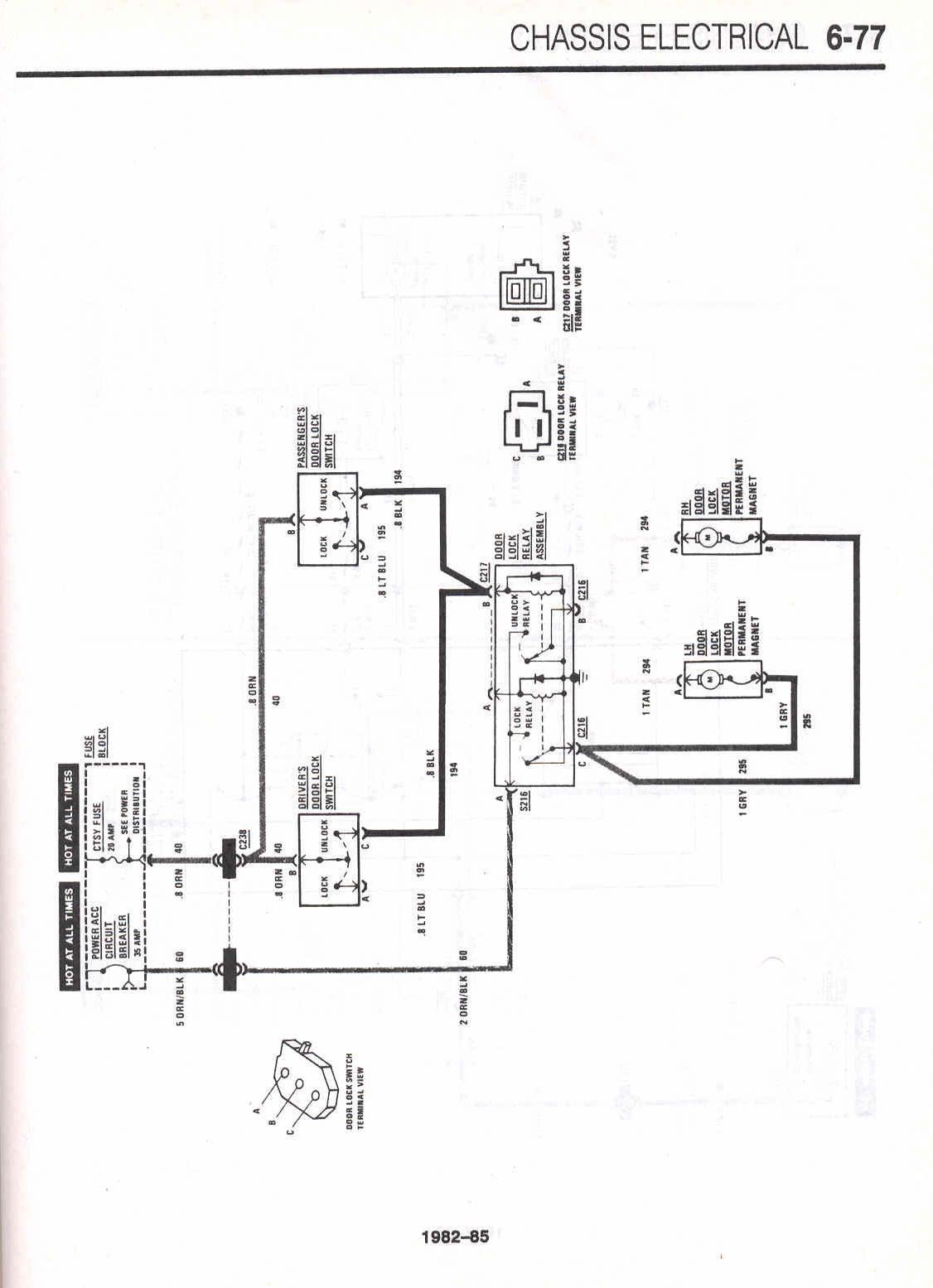 Car Info 1968 Camaro Interior Light Wiring Diagram Power Door Locks